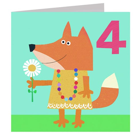 Fox Number 4  Card