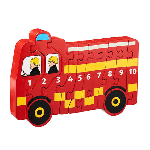 Lanka Kade Wooden Fire Engine 1-10 Jigsaw