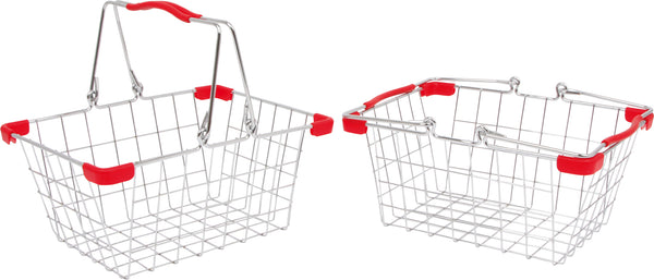 Metal Shopping Basket Pretend Play