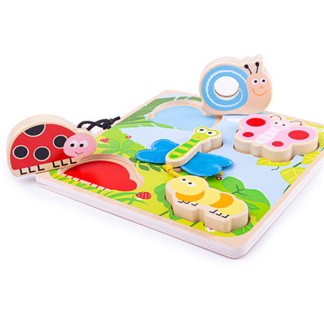 Wooden Touch and Feel Puzzle by Bigjigs