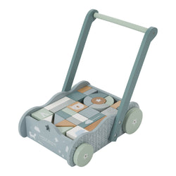 Little Dutch Blue Wooden Baby Walker