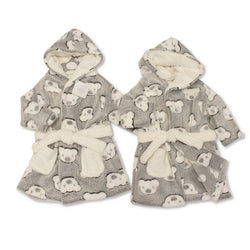 Baby Teddy Print Dressing Gown