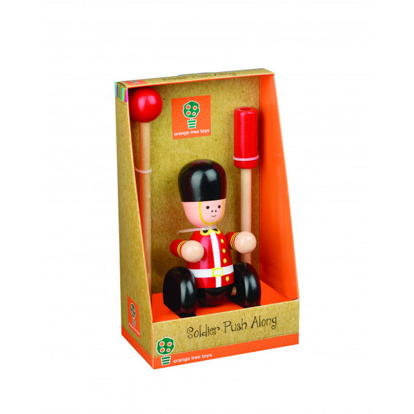 Solider Wooden Push Along Toy