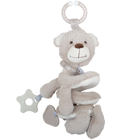 Bigjigs Plush Buddy Bear Spiral Rattle