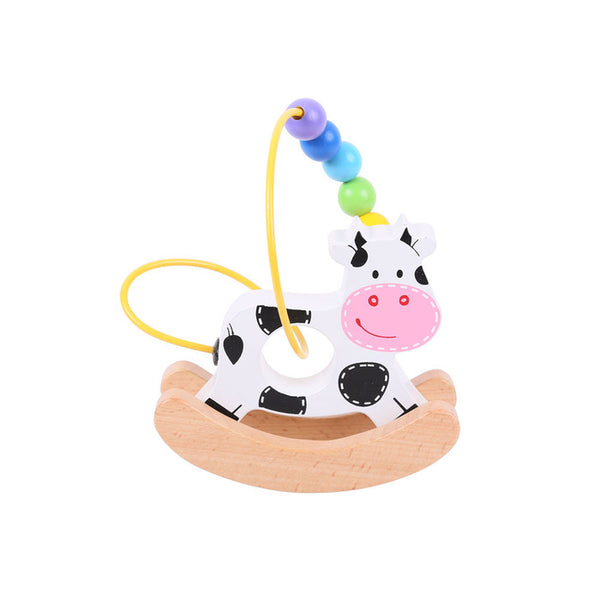 Rocking Bead Frame Cow by Bigjigs