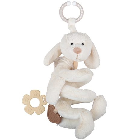Bigjigs Plush Dreamy Dog Spiral Rattle