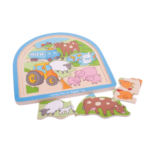 Farm Arched Wooden Puzzle by Bigjigs