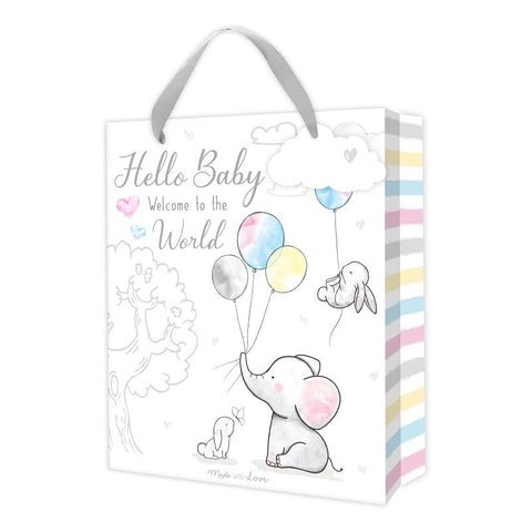 Hello Baby Elephant Gift Bag