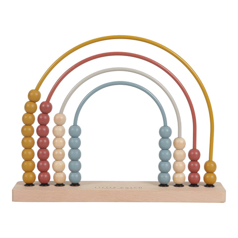 Little Dutch Wooden Rainbow Abacus Pure and Nature
