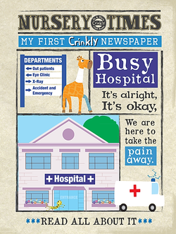 Nursery Times Crinkly Newspaper - Hospital