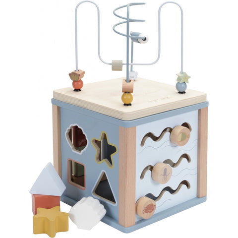 New Little Dutch Blue Ocean Activity Cube Wooden Toy