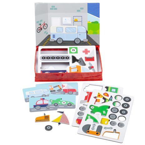Mechanic Magnetic Play Set by Bigjigs