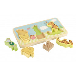 Classic Winnie The Pooh Wooden Mini Puzzle Tray