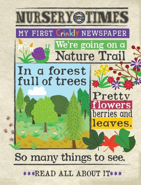 Nursery Times Crinkly Newspaper - Nature Trail