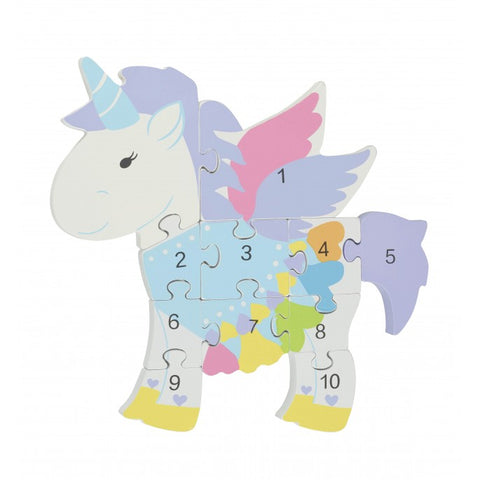 Unicorn Wooden Number Puzzle