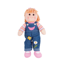 Penny Dungarees Rag Doll by Bigjigs