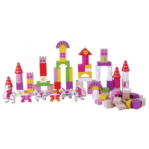 Pink Castle Blocks 100 Pieces - Jumini