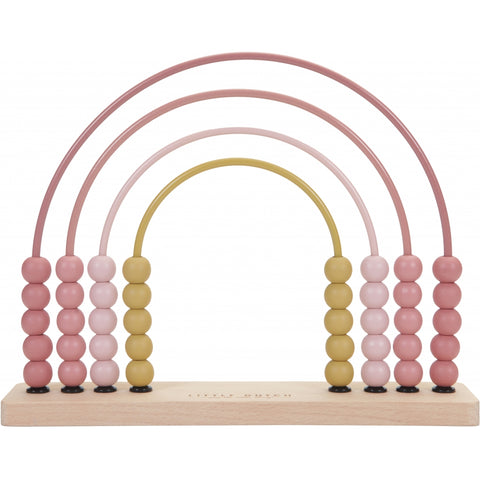 Little Dutch Rainbow Pastel Pink Abacus (New Design)