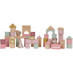 Little Dutch Pink Wooden Blocks - Updated Design