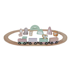 Little Dutch Pink Wooden Train Set