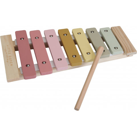 Little Dutch New Pink Wooden Xylophone Wooden Musical Toy