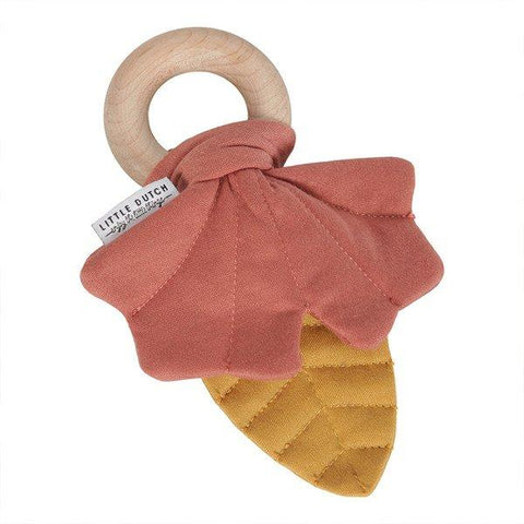 Little Dutch Crinkle Leaf Toy Yellow and Pink