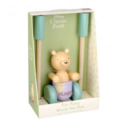 Classic Winnie The Pooh Wooden Push Along