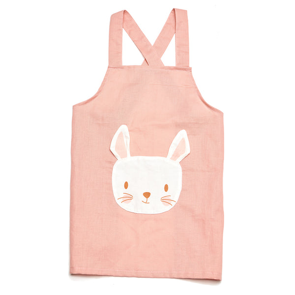 Rabbit Linen Apron - Threadbear Designs