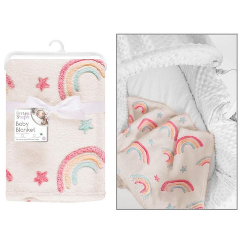 Super Soft Rainbow Soft Touch Baby Blanket