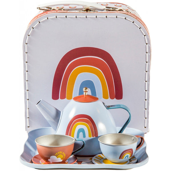 Little Dutch Rainbow Tin Tea Set In Box