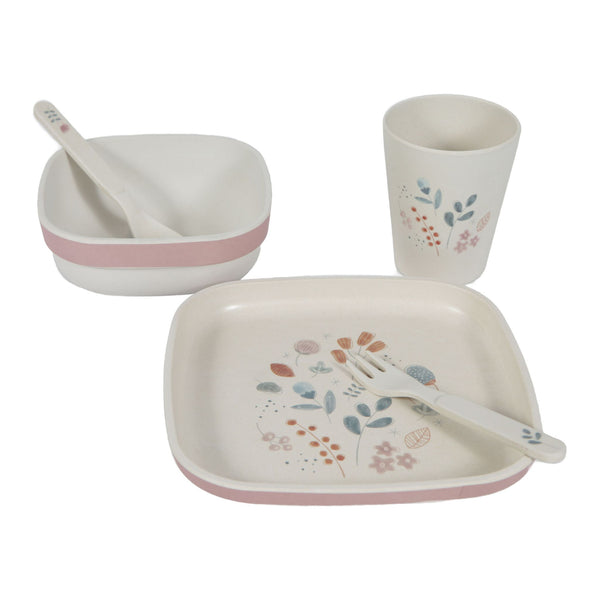 Little Dutch Bamboo Kids Tableware Spring Flowers