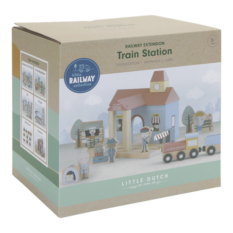 Little Dutch Railway Extension Station Play Set