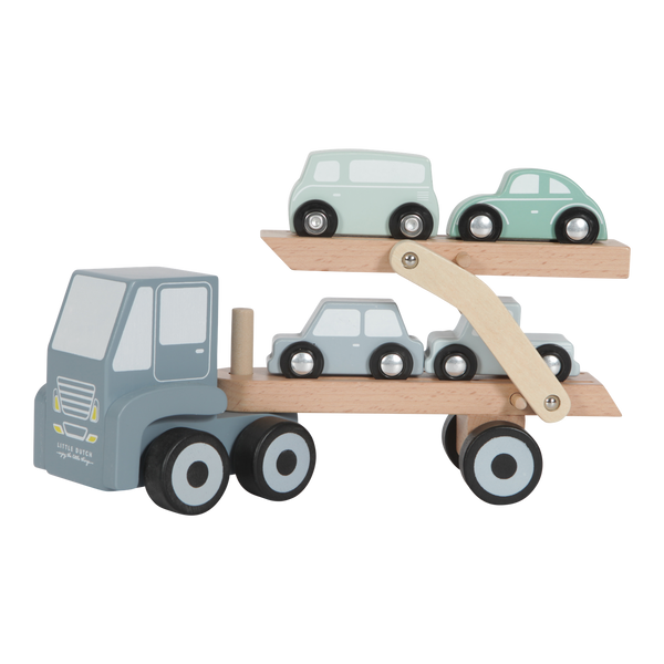 Little Dutch Blue Wooden Truck & Cars