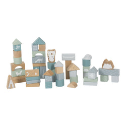 Blue Wooden Blocks by Little Dutch