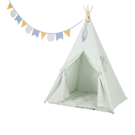 Little Dutch Mint Coloured Teepee and Mat