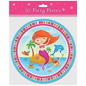 9 inch mermaid party plate