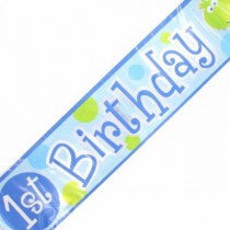 12FT 1ST B/DAY TURTLE FOIL BANNER