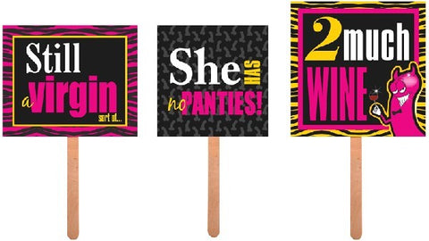 3PC HEN NIGHT PROPS ON A STICK