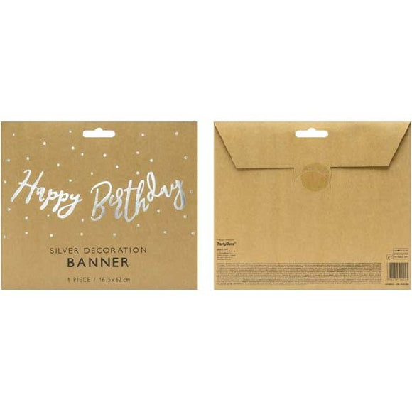 HAPPY B/DAY SILVER DIE CUT BANNER