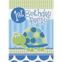 1st B/Day Turtle Invites