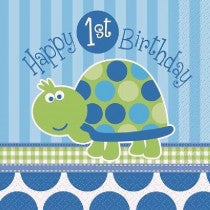 1st B/Day Turtle Napkins