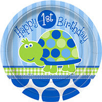 "1st b/Day Turtle 7"" Plates"
