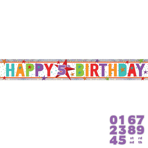 HAPPY BIRTHDAY AGE BANNER