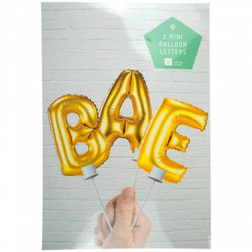 BAE Foil cake Toppers