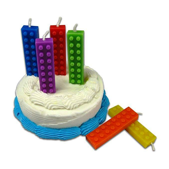 Building Blocks Birthday Candles