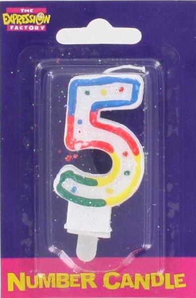 N0: 5 Birthday Candles