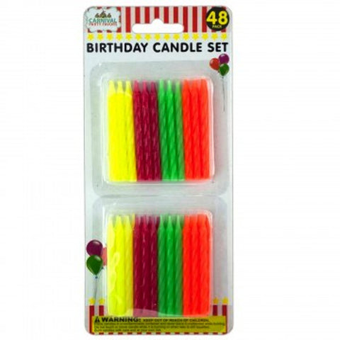 Colored Birthday Candles 48pk