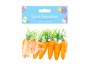 Easter Bonnet Carrot Decorations