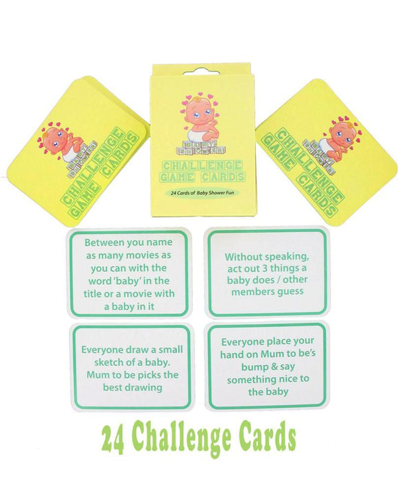 Baby Shower Challenge Games