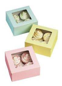 WILTON CUPCAKE BOXES (HOLDS 4) Green